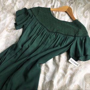 🆕 Bohemian Emerald Green Shift Dress